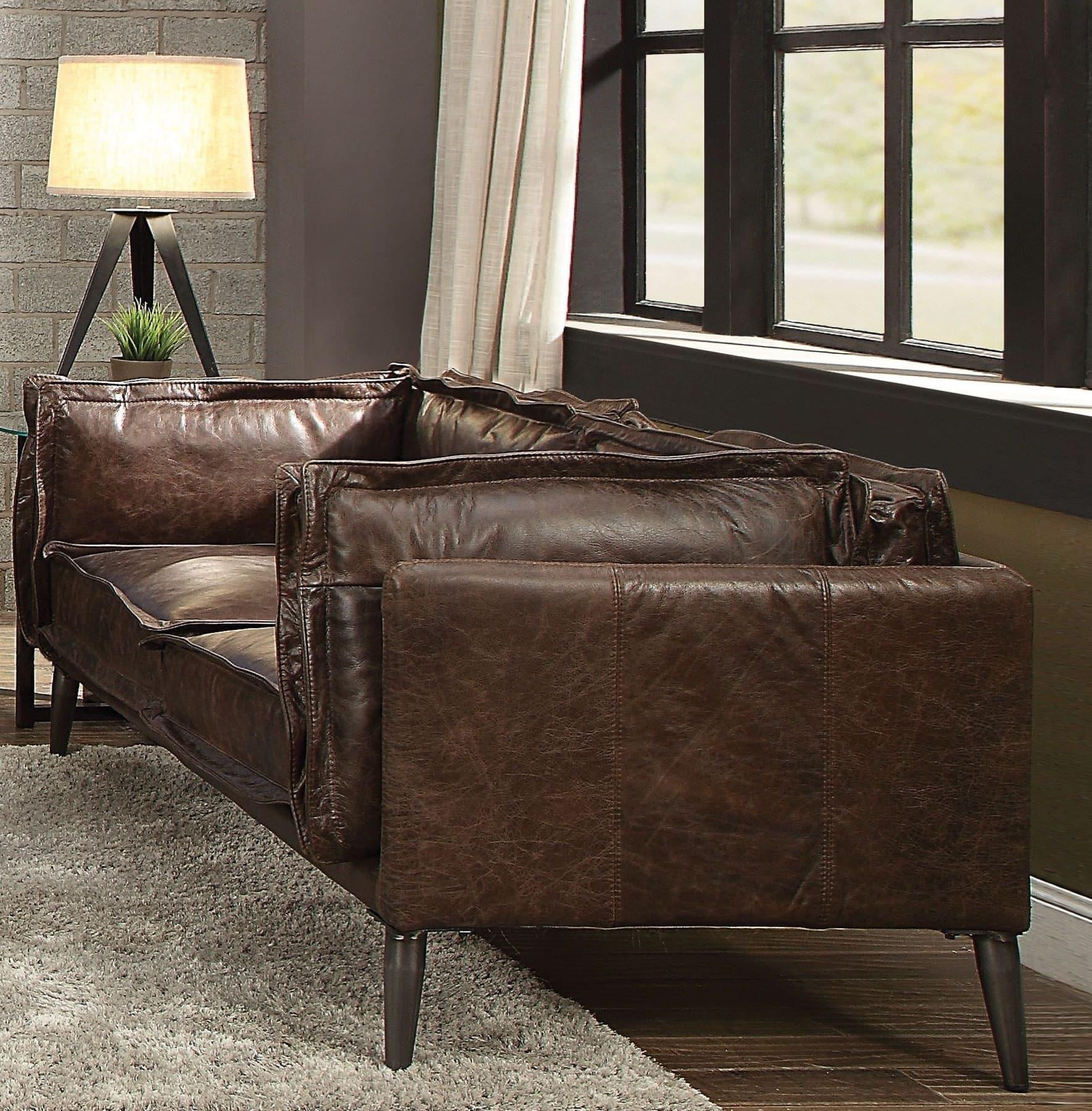 Porchester top grain leather sofa 52481