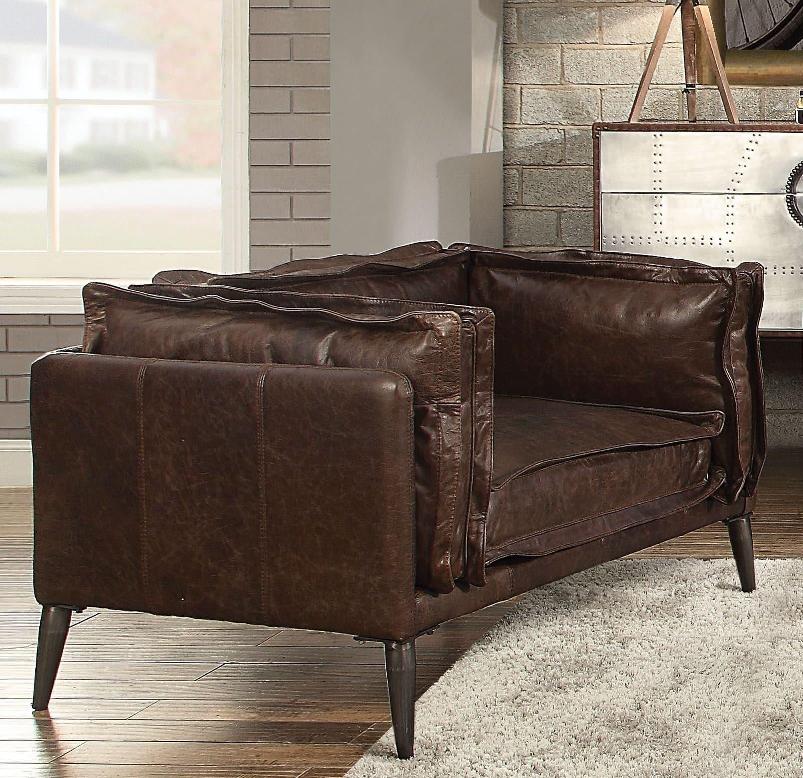 Porchester top grain leather chair