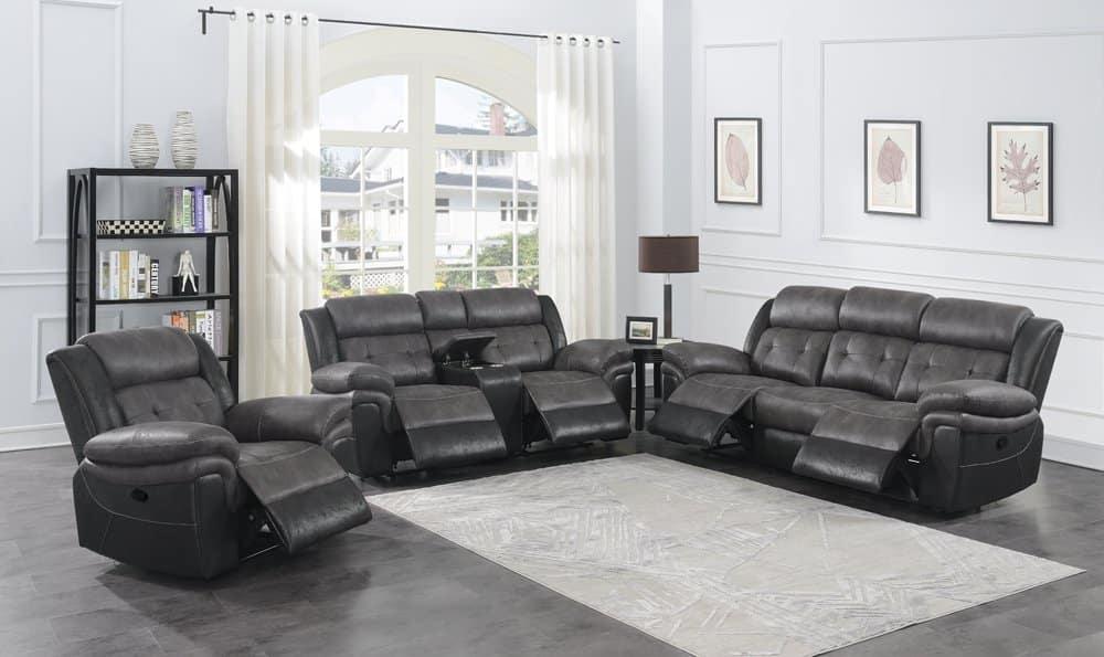 Saybrook 2 tone microfiber sofa set 609144-