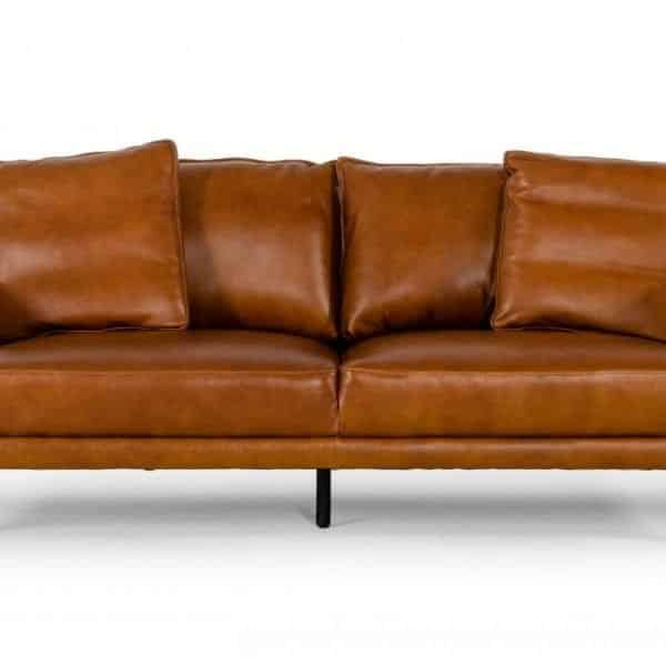 Jacoba Cognac leather sofa