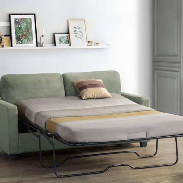 zenas-light-green-fabric-sofa-with-sleeper-by-acme