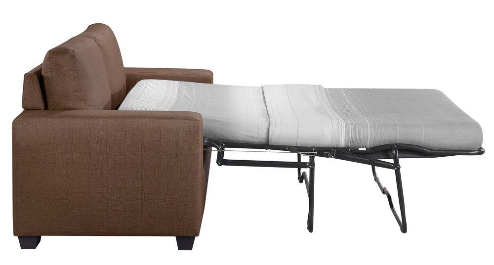 Zoilos Brown Fabric Sleeper Sofa, Brown Fabric Sleeper Sofa