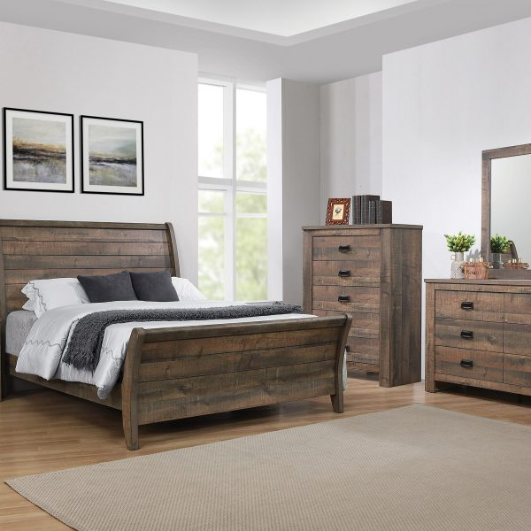 Frederick Rustic Wood Bedroom Set