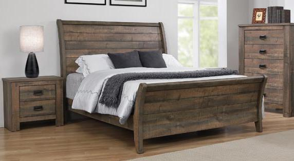 Frederick rustic sleigh bed