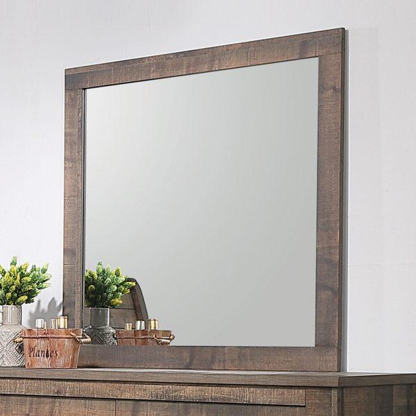 Frederick Rustic Wood Mirror