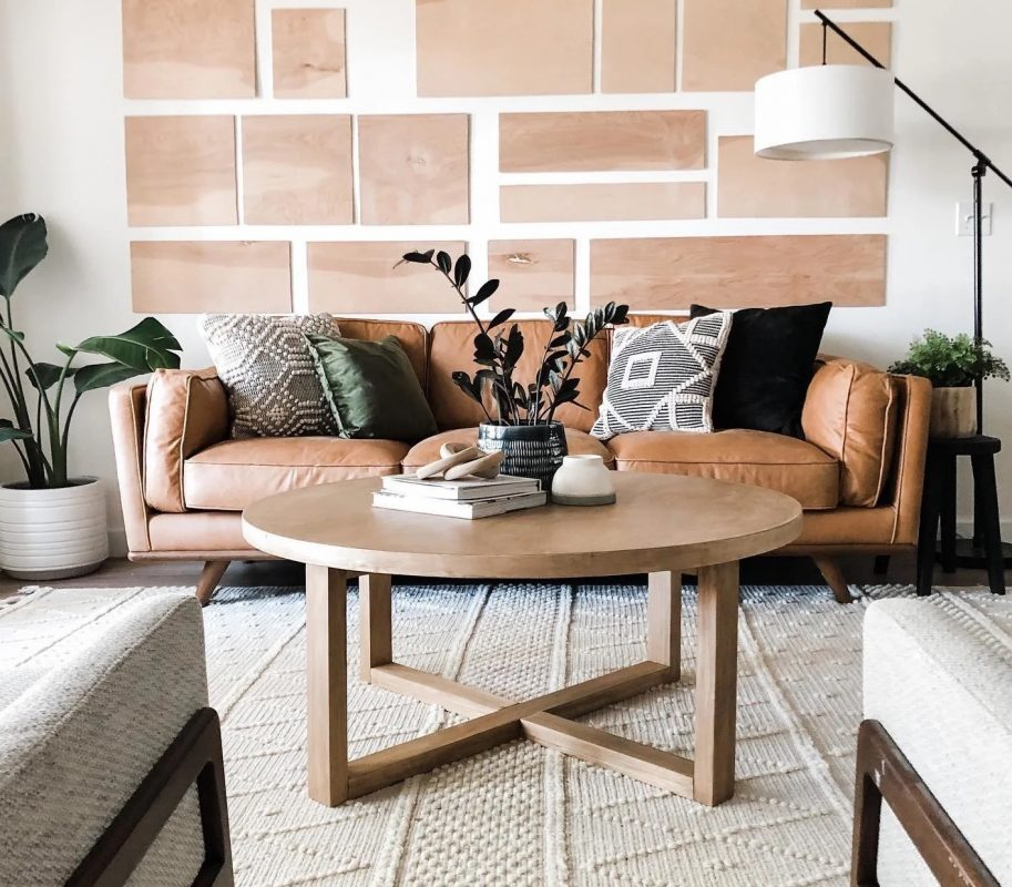 Macadamia Cognac Leather Sofa