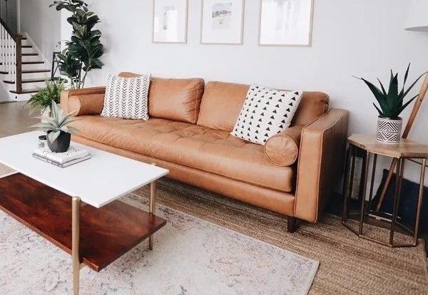 Roma Cognac Leather Sofa