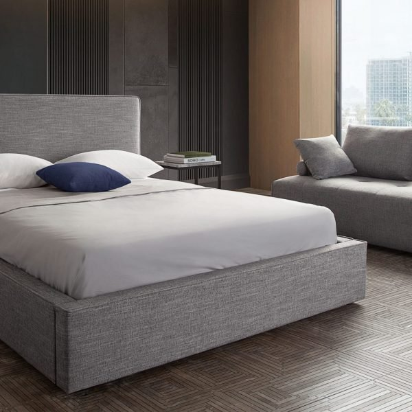 Cloud Bed Grey Upholstery