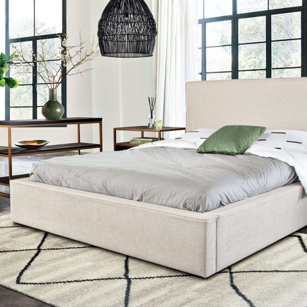 Cloud Bed Sand Upholstery