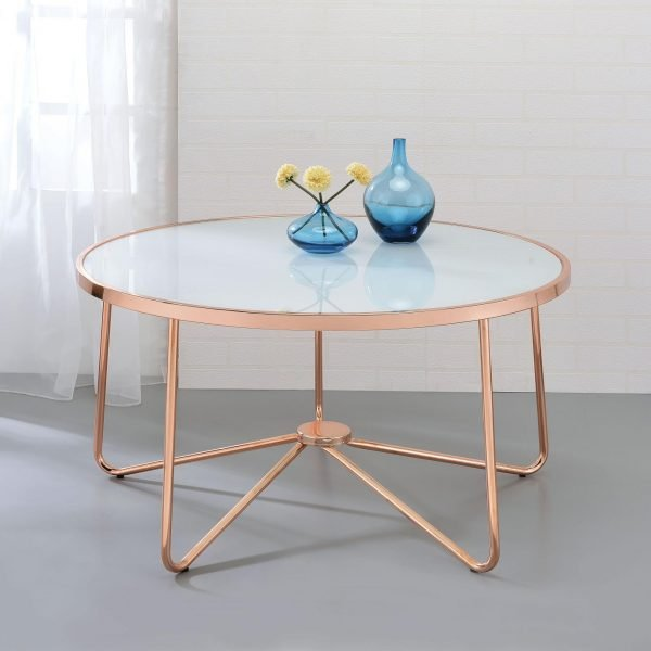 Alivia Rose Gold Coffee Table