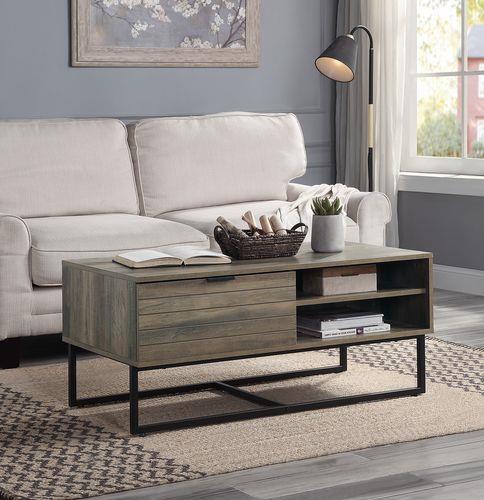 Homare Rustic Wood Coffee Table