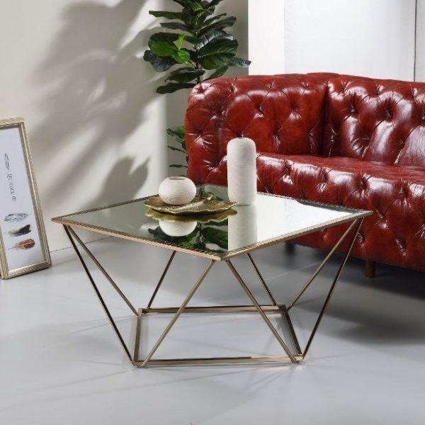 Fogya Geometric Coffee Table