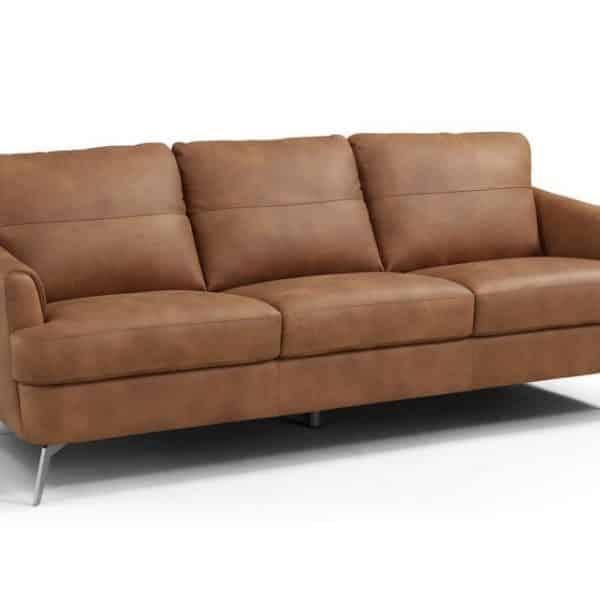 Safi cappuccino leather sofa