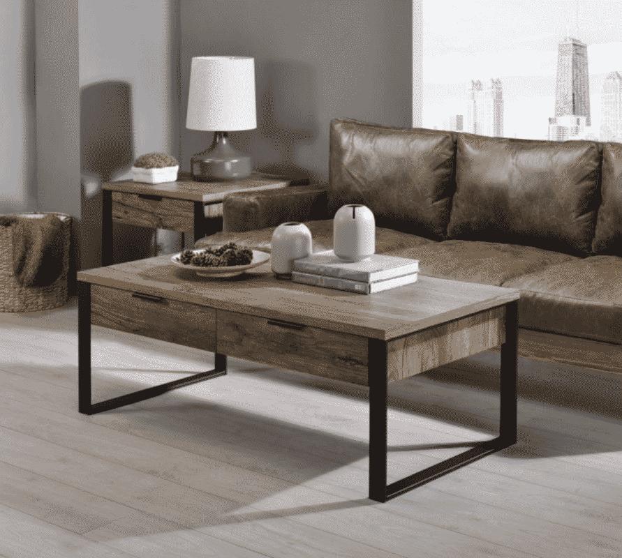 Aflo Industrial Wood Coffee Table