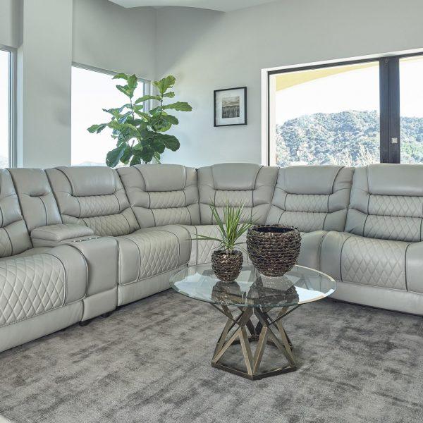 Garnet Gray Sectional Sofa 609470PP