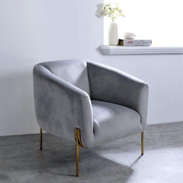 Carlson Velvet & Gold Chair