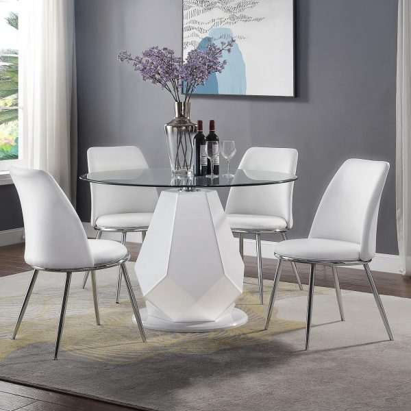 Chara Gloss White Dining Set