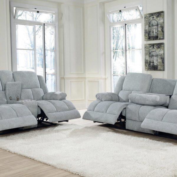 Waterbury Grey Reclining Sofa Set
