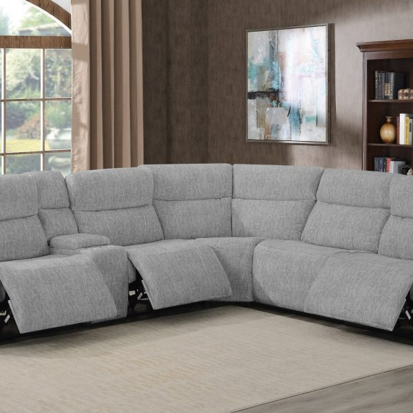 Wagner Grey Reclining Sectional Sofa 609510PP