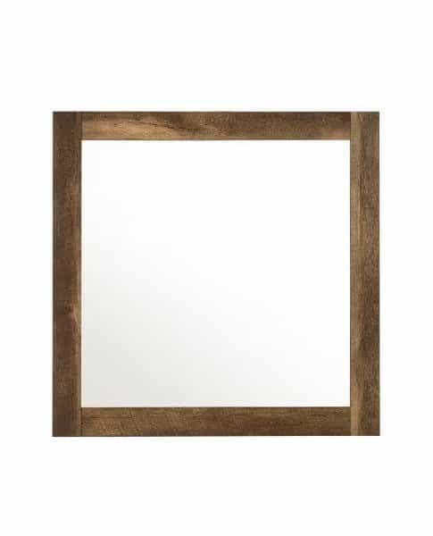Morales Rustic Wood mirror
