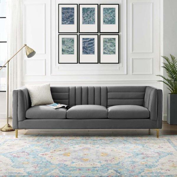 Ingenuity Velvet Sofa