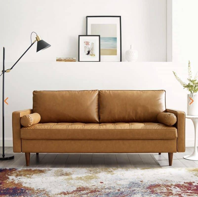 valour leather sofa 2EEI-3765-TAN