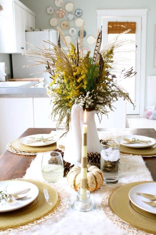Fall decor dining st