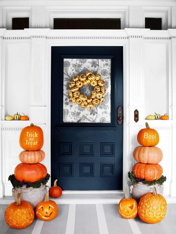 fall decorations front door