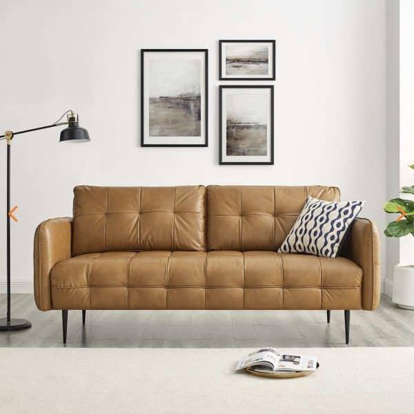 Cameron Vegan Leather Sofa