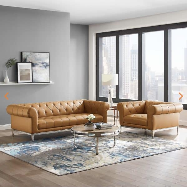 Idyll Leather Sofa Set