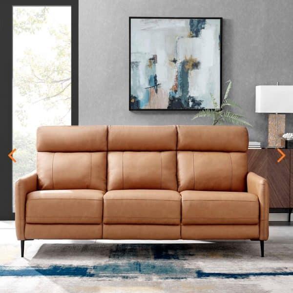 Huxley Brown Leather sofa EEI-4561-TAN