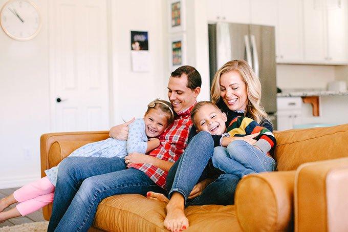 family leather sofa